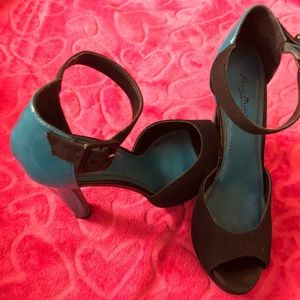 Anne Michelle black and blue platform shoes
